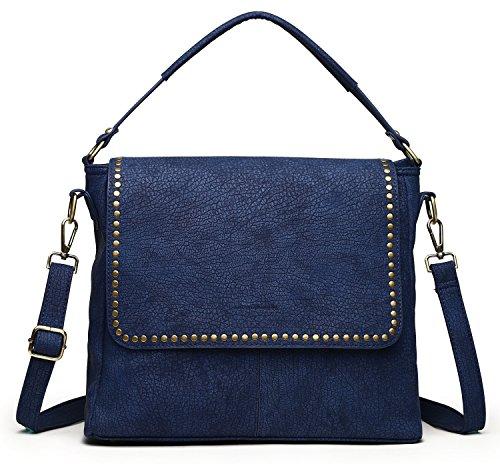 collezione alessandro handväska Berlin tillverkad av strukturerat, greppbart material 35 cm x 28 cm x 14 cm, - blå - Einheitsgröße