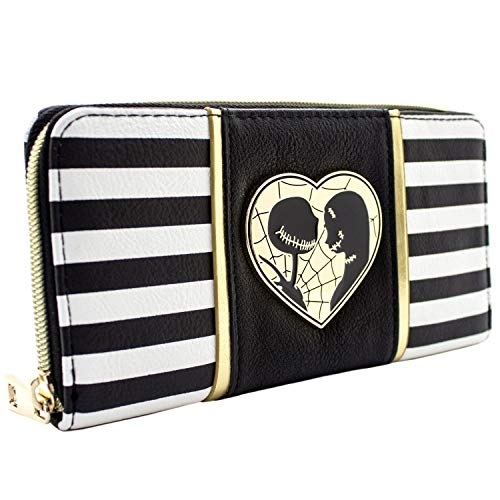 Cartera de Nightmare Before Christmas Jack & Sally Negro