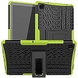 HoYiXi Funda para Samsung Galaxy Tab A7 10.4-Inch 2020 Anti-Drop Estuche de Tableta Cubierta de Doble Protectora con Soporte Funcion Cover Case para Samsung Galaxy Tab A7 10.4 2020 T500/T505 - Verde