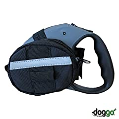 Fits on Medium & Large Retractable Leash Models 2 Large Storage Compartments with Zippers Reflective Accent Stripe for Improved Visibility in the Dark Integrated Waste Bag Dispenser