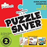Puzcraft Puzzle Saver Adhesive Sheets (12 Sheets) Easiest Alternative to Messy Puzzle Glue