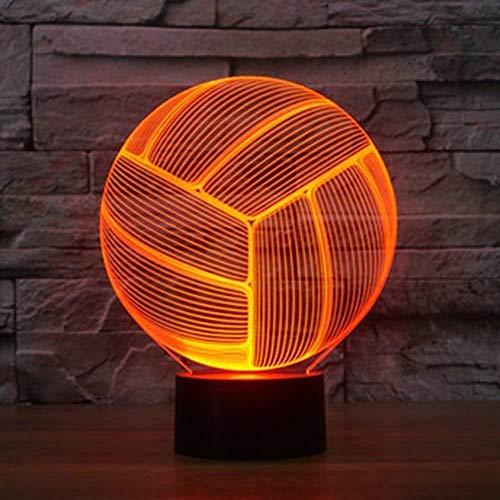 Lámparas de baloncesto Led USB 3D Lámpara Interruptor táctil 3D Lámpara de mesa Led Dormitorio 7 Coloridas luces nocturnas