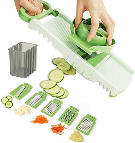Aieruma Mandoline Slicer Vegetable Premium Quality 6 Blades Adjustable Cheese Vegetable Slicer product image