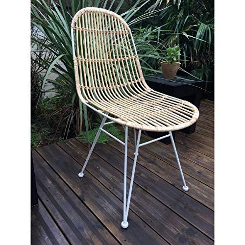 KUBU - Chaise Design rotin Naturel