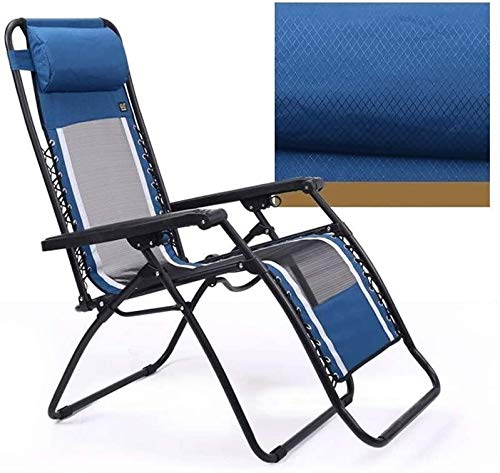 Aoyo 90°-156° Adjustment Chair,Portable Folding Recliner With Disassembled Headrest ,Travel Beach Camping Nap Lazy Chair