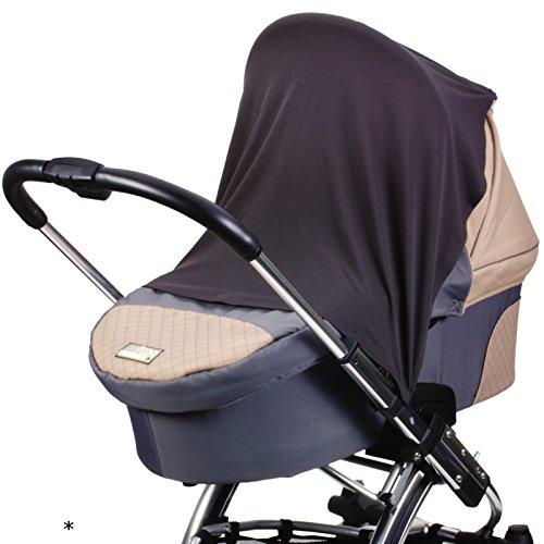 #11 Sonnen- und Schlummertuch UV30+ für den Kinderwagen Buggy Babyschale 80x60 cm aus Microfaser Sonnentuch Segeltuch Sonnensegel Sonnenschutz Schattentuch Baby