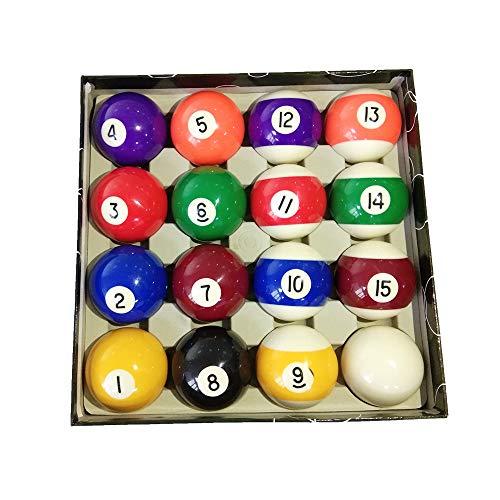 haxTON Billardkugel-Set, Standardgröße, hochwertig, Billardtisch, Zubehör, Billardkugel-Set, Art Nummer Stil, inkl. Queueball, für drinnen und draußen, für Kinder, Erwachsene, Anfänger, Profi, Farbe 2