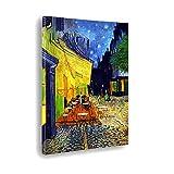 Giallobus - Cuadro - Impresion EN Lienzo - Vincent Van Gogh - TERRAZA DE UN CAFÉ' por LA Noche - 50 x 70 CM