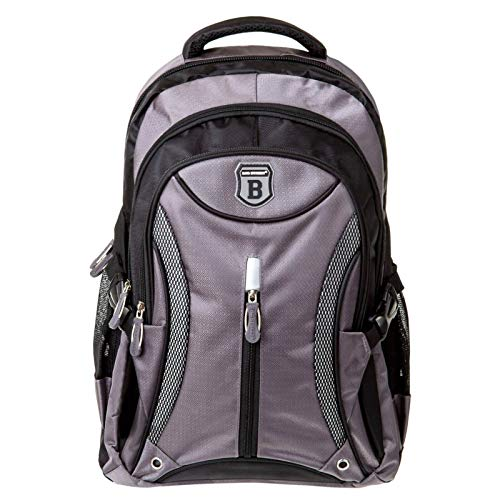 Rucksack Wanderrucksack Schulrucksack Damen Herren Kinder Sporttasche Daypack Grau