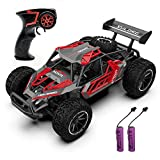 QUN FENG Remote Control Car-1:16 2WD RC Car 22km/h High Speed Off-Road Vehicle 2.4GHz Radio Racing Cars with 2 Rechargeable Batteries Toys Gift for Boys 8-12 Years Kids Adult(Red)