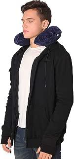 BOMBAX Men Travel Jacket 10 Pocket Zip Up Hoodies Sweatshirt Pillow Eye Mask
