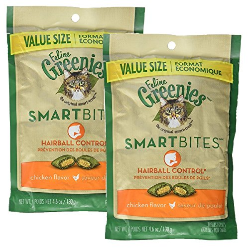Greenies Feline SMARTBITES Hairball Control Chicken (9.2 oz)