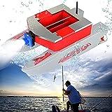 Barco de cebo Pesca de carpa Barco de cebo RC Boilies Tiempo de ejecución 3 horas 3,8 kg Anti hierba Viento Radio Control Barco de cebo Control remoto de larga distancia 500M Sonar A prueba de viento
