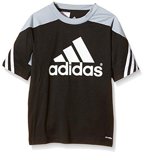 adidas Kinder Trikot/Teamtrikot Fußball bekleidung Sere14 Trainings jersey Kurzarmtrikot, Black/Silver/White, 116