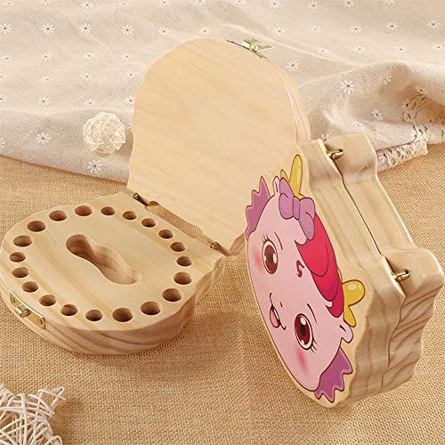 Quskto Baby Tanden Save Box, Baby Herinneringen Keepsake Dozen Kinderen Tand Collectie Doos Baby Tand Houder Voor 4-12 Jaar Beste Kinder Souvenir Gift