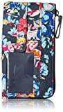 Vera Bradley Signature Cotton Ultimate Card Case Wallet with RFID Protection, Pretty Posies