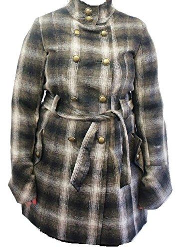 NEXT - Cappotto con cintura a quadretti, colore: Marrone Marrone 12