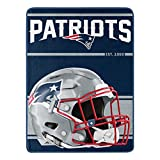 Northwest NFL New England Patriots 46x60 Micro Raschel Run Design RolledBlanket, Team Colors, One Size (1NFL059050076RET)