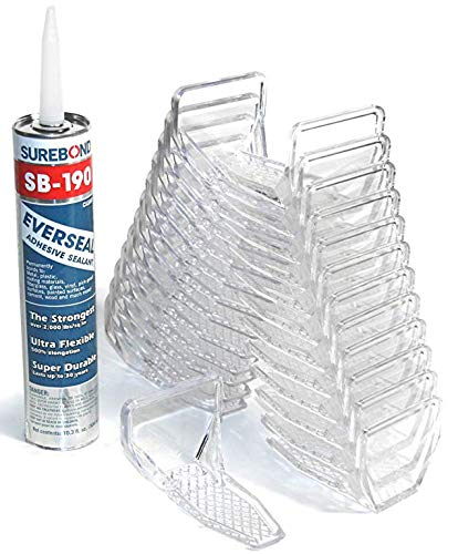 SnoBlox Deuce Snow Guards for Metal Steel Corrugated Roof (25 Pieces with Adhesive) (Clear)