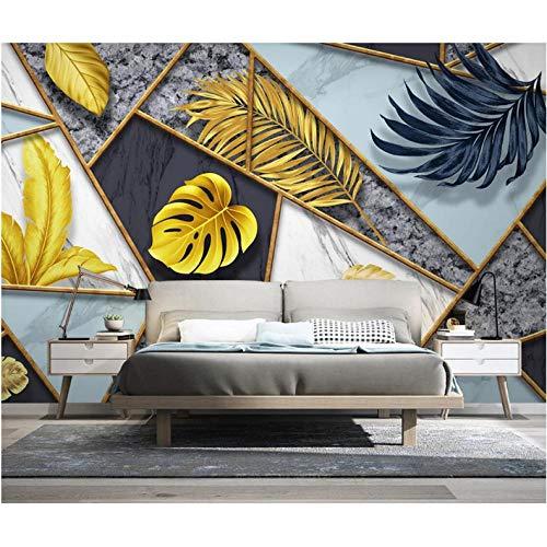 Wuyii Behang geometrica Murale bladeren Tropicale papieren behang 3D behang muurschildering muurschildering papier papier papier handdoeken decoratie voor thuis 200 x 140 cm