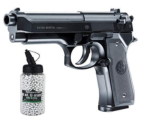 Set:Beretta M92 FS Airsoft mit Metal Slide 2.5161 0,5 Jule 6 mm BB Federdruck Softair + G8DS® Softair Munition Bio BBS Premium Selection 2000 Stück 0,20 g 6mm (1, 2)