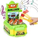 Herefun Juego de Golpear, Clásico Mole Game con Luz Musical y 1 Martillos, Juguete de Martillo Juguetes de Desarrollo, Mini Juego Arcade, Juguetes de Desarrollo para para Niños Niñas (Verde)