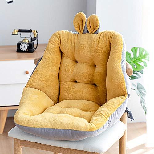 Half-gesloten zitkussen Stoelkussens Bureaustoel Kussen Warm Comfort Zitkussen Pad-Geel