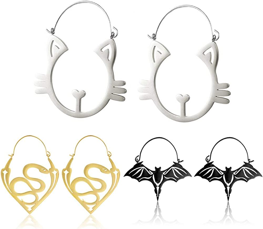 Casvort 6 PCS Fashion Ear Hanger Classic Stainless Finally popular brand Weights Plu Steel