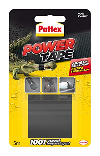 PATTEX Adhésif Réparation Power Tape Noir Blister 5m