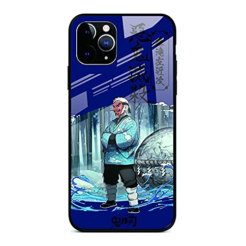 Demon Slayer Phone Case para iPhone 12 iPhone 12 Pro/Pro MAX Ultra-Thin Soft TPU Glass Bumper Protective-12 Pro-Demon_Slayer_For_iPhone_XS