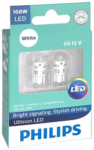 Philips 168WLED Ultinon LED Bulb (White), 2 Pack