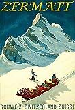TOCMANE Zermatt Poster Ski Ski Schweiz Suisse Poster