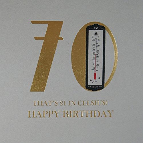 70. That 's 21in Celsius–Qualität Geburtstagskarte–mn26