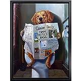 DMPro Graffiti Gracioso Perros Poster Banksy Lienzo Pared Arte Pinturas Poster Y Impresiones Animal Moderno Cuadros Salon HabitacióN Hogar Decoracion 40x60cm / Sin Marco