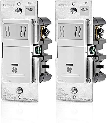 Leviton IPHS5-1LW, 3A, Single Pole, White - 2 Pack