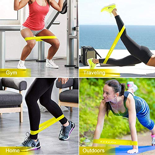 Letsfit Resistance Bands, Set of 5 Skin-Friendly Resistance Fitness Exercise Bands Set with 5 Different Resistance Levels for Women and Men, Ideal for Gym, Home, Yoga, Strength Training, Pilates