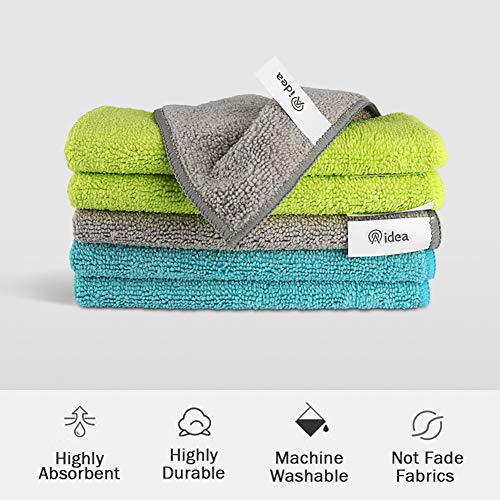 AIDEA Microfiber Cleaning Cloths-50PK, Softer Highly Absorbent, Lint Free Streak Free for House, Kitchen, Car, Window Gifts(12in.x12in.)