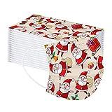 CARDIGO 100 Piezas de Navidad Suave Impresa Unisex desechable para niños