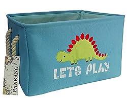 4. FANKANG Rectangular Fabric Dinosaur Storage Bin
