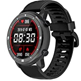 WAFA Smart Watch with Blood Pressure , Touch Screen Fitness Tracker with Heart Rate Blood Oxygen Monitor, Step Counter Activity Sleep Tracker, IP68 Waterproof Sport Watch for Women and Men (Black)