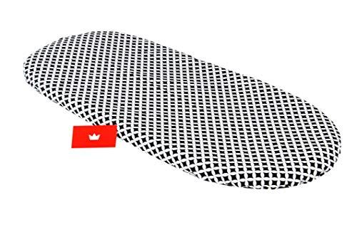 BABYLUX Spannbettlaken für Kinderwagen Stubenwagen Baby Spannbetttuch Wiege Stuben Bettlaken (107. Marokko Schwarz)