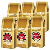 Café Lavazza Qualità Oro, Grains Entiers, Grains de Café, Pack de 6, 6 x 1 kg