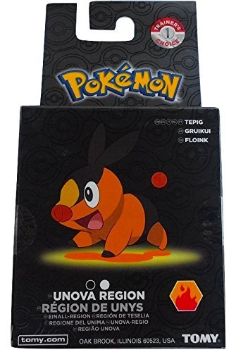 Pokemon Trainer's Choice Tepig mini figure w/ display case by TOMY