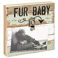 甘い鳥の毛皮の赤ちゃんペット苦しめられた緑8 x 8再生木材ブロッククリップフォトホルダーフレーム