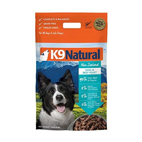 K9 Natural Grain-Free Freeze Dried Dog Food, Hoki & Beef 4lb