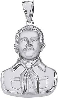 925 Sterling Silver Jesus Malverde Sinaloa Narco Saint Pendant