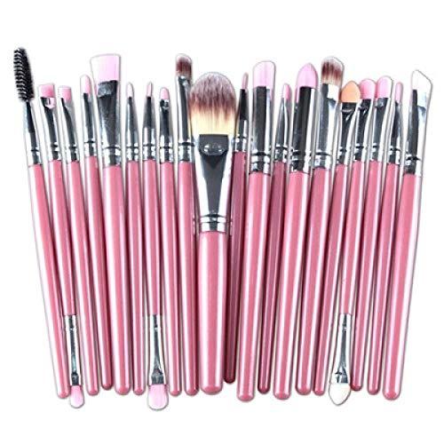 MEISINI Set de pinceles de maquillaje Base de sombra de ojos Polvo Delineador de ojos Pestañas Labio Maquillaje Cepillo Cosmético Kit de herramientas de belleza, D