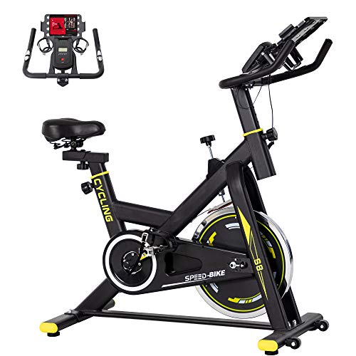 BINHIA Exercise Bike Indoor Cycling Bike Stationary - Cycle Bike with Ipad Mount &Comfortable Seat Cushion (Gray & Black)