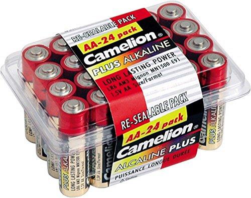 Camelion 11102406 Haushaltspack Mignon-Batterie Plus Alkaline 1,5V, Typ AA, 24-er Pack