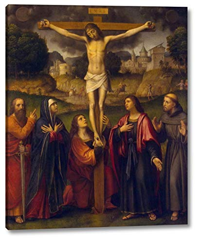 "Crucifixion by Bernardino Luini - 20"" x 24"" Gallery Wrap Canvas Art Print - Ready to Hang"